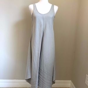 Grey Handkerchief-Linen Maxi Dress (PP)